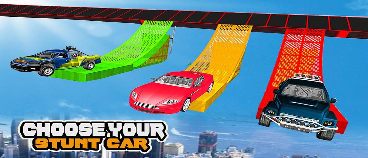 Mega Car Ramp Impossible Stunt Game