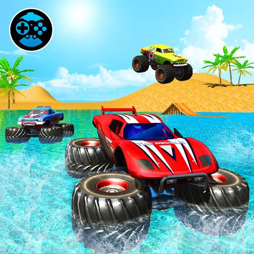 Monster Truck Water Surfing: Truck Racing Games